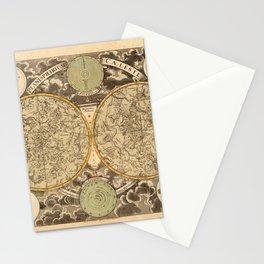 Vintage Celestial Map 1750 Stationery Cards