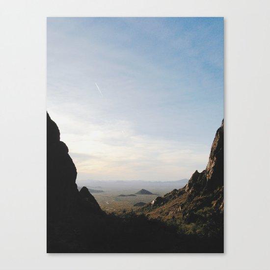 Palm Sunset Canyon Canvas Print