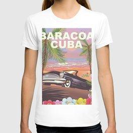 Baracoa, Cuba vacation poster T-shirt