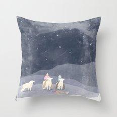 Man Eaters Throw Pillow
