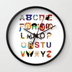 Marvelphabet Heroes Wall Clock