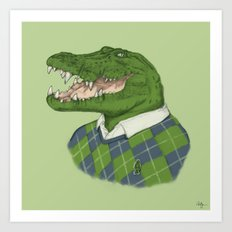 Argyle Crocodile Art Print