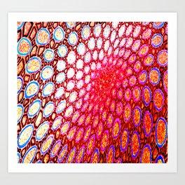 Electromagnetic Warp Art Print