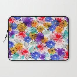 Printed Silk Exotic Garden Laptop Sleeve