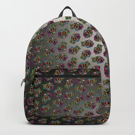 Smiling Pit Bull in Black - Day of the Dead Pitbull Sugar Skull Backpack