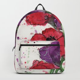 Red and Purple Poppies Backpack