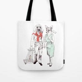 Bestial cricket couple Tote Bag
