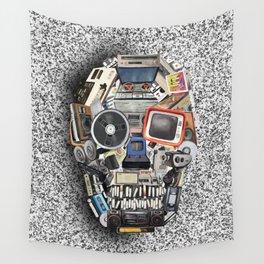 retro tech skull 5 Wall Tapestry