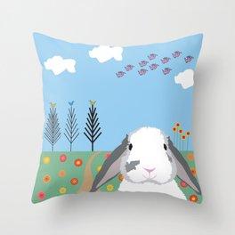 Jokke, The Rabbit Throw Pillow