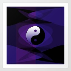 Yin Yang Design Art Print