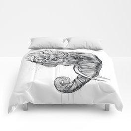 Elephant art Comforters