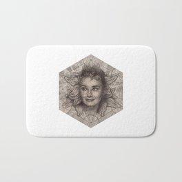 Audrey Hepburn dot work portrait Bath Mat