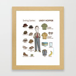 SWING SERIES: LINDY HOPPER (male) Framed Art Print
