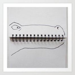 Cuadernosaurus Art Print