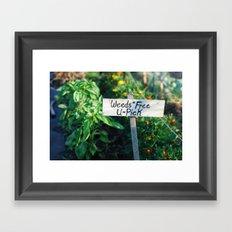 Weeds Free U-Pick Framed Art Print