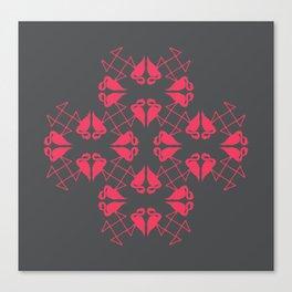Flamingo Hearts Canvas Print