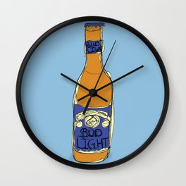 Bud Light Bottle Wall Clock