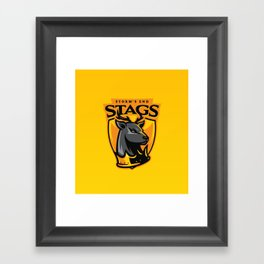 Storm' End Stags Framed Art Print