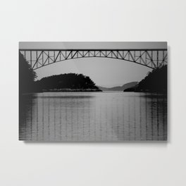 Bridge over Peaceful Waters Metal Print