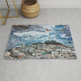 Starry Coit Tower Rug