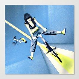 Happy Joyride (blue yellow) Canvas Print