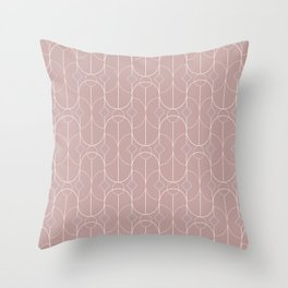 Contemporary Bowed Symmetry in Shell Pink Throw Pillow