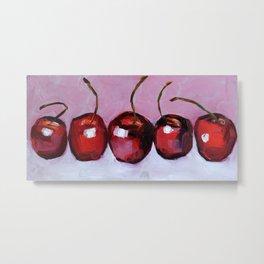 Cherries, cherry, fruit summer Metal Print