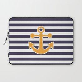 Blue , white , striped Laptop Sleeve