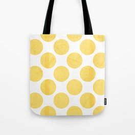 Yellow Polka Dot Tote Bag