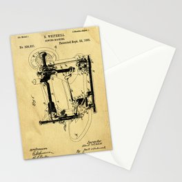 Sewing Machines Support Patent Drawing From 1885 Stationery Cards