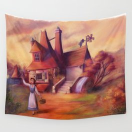 A Peculiar Girl Wall Tapestry