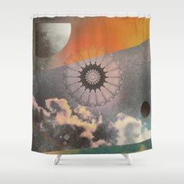 Sky Mandala II Shower Curtain