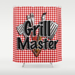 Grill Master with BBQ Tools Shower Curtain