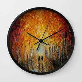 Horseback Riding in the East Coast Forest Wall Clock