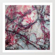 Grey Marble Art Print