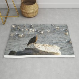Eagle on Ice Rug