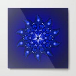 Extreme blue mandala Metal Print