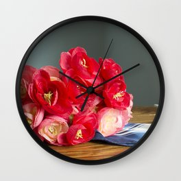 Flowers on the Table Wall Clock