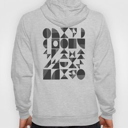 Shape and Line in Black and White Hoody