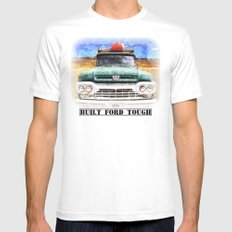 Built Ford Tough White Mens Fitted Tee MEDIUM