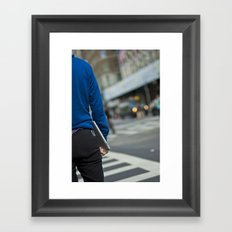 iPad Blue Framed Art Print