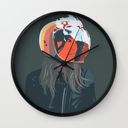 orange (from a photo by Sebastien Zanella) Wall Clock