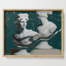 GREEK GODS GREEN MARBLE Serving Tray