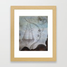 Unconscious Tether--Fractured Symbiosis Framed Art Print