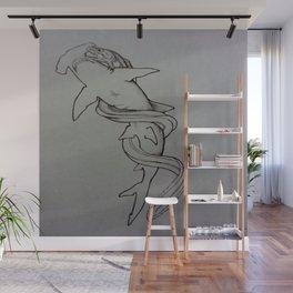Hammerhead Shark Vs. Eel Wall Mural