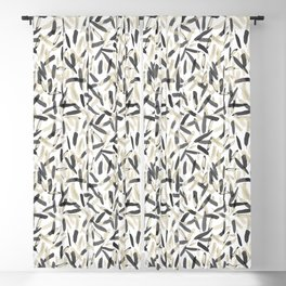 Black and White feather pattern faded Blackout Curtain