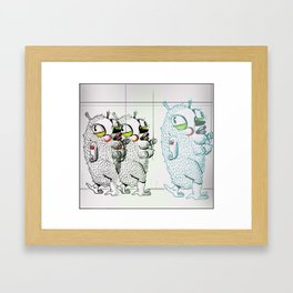 Puffies Framed Art Print