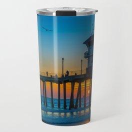 Sunset Under Zero Travel Mug
