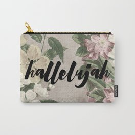 hallelujah vintage floral Carry-All Pouch