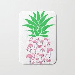 Humorous Plant Genus Fruit Graphic Tee Shirt Gift Funny Flamingo Pineapple Awesome Enzyme Men Women Bath Mat